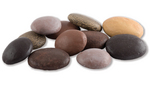 Tumbled river stones stone